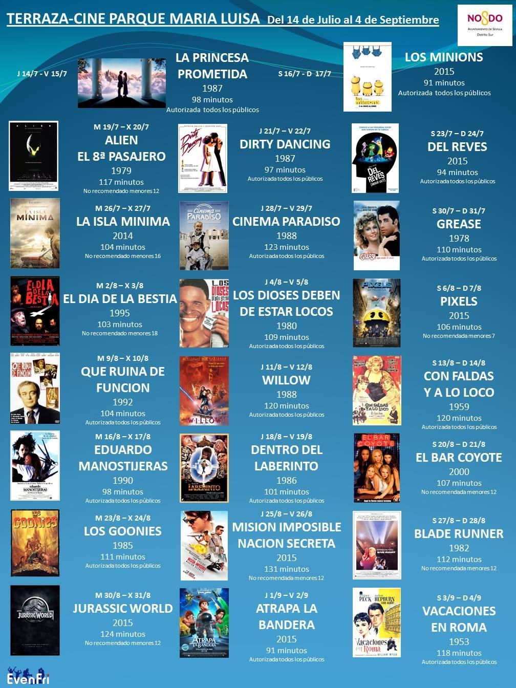 Terraza Parque María Luisa movie program