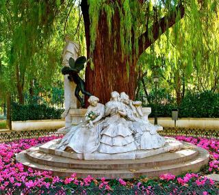 poesía parc estatua maria luisa