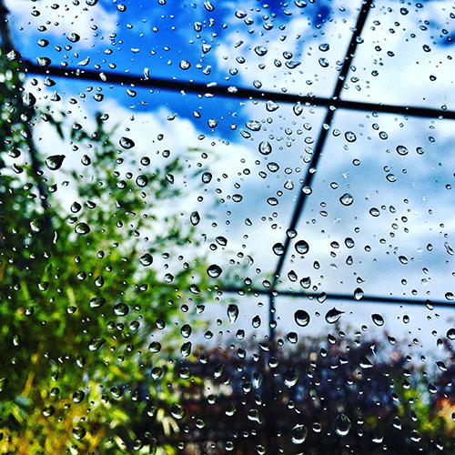 Picture of rain on glass window