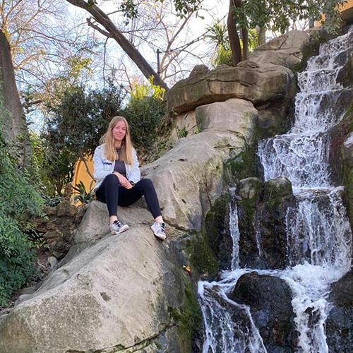 rock waterfall maria luisa park