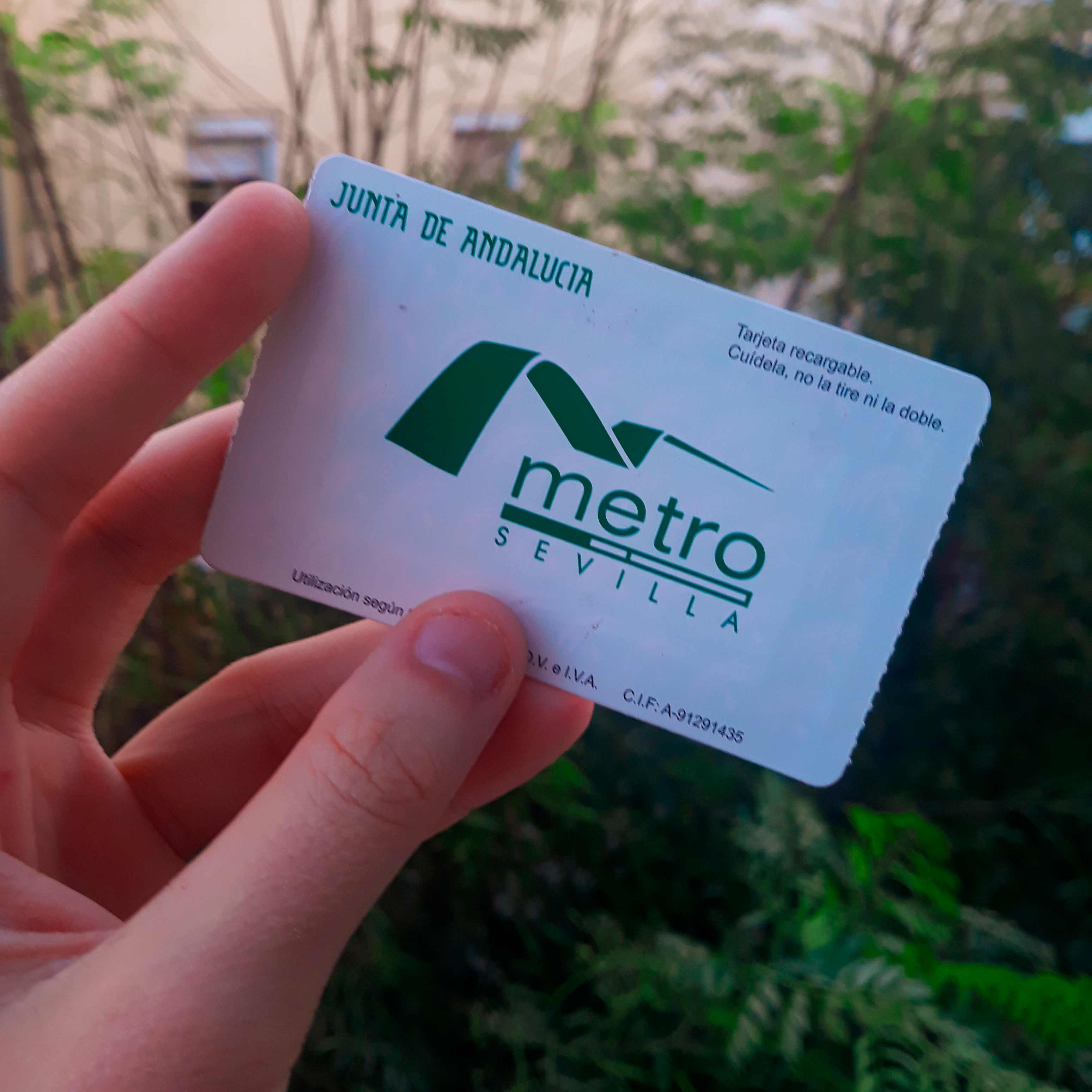 Metro ticket that you can recharge